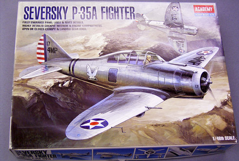 LuckyModel com - ACADEMY 1/48 SEVERSKY P-35A (AC 2180)